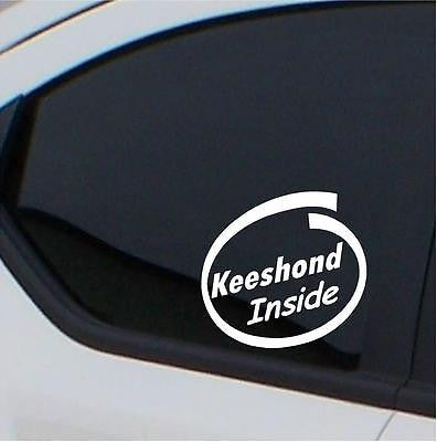 2x Keeshound  Inside stickers car decal free shipping - Art & Text