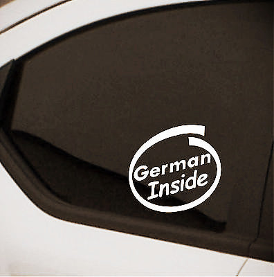 2 x German Inside car stickers car decal - Art & Text
