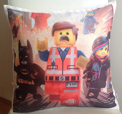 Lego pillow cover very soft material washable FILLING NOT INCLUDED - Art & Text