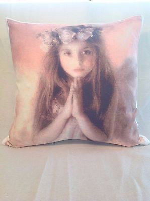 Girl Praying pillow cover very soft material washable FILLING NOT INCLUDED - Art & Text