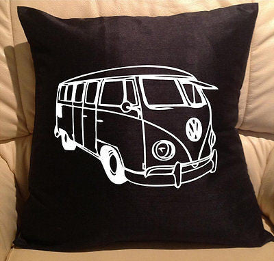 VW Van pillow cover washable Polyester and Square FILLING NOT INCLUDED - Art & Text