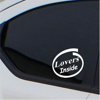 2x Lovers inside stickers car decal - Art & Text