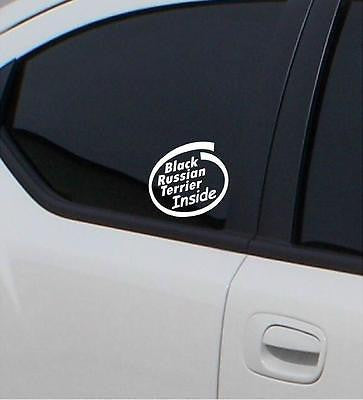 2x Black Russian Terrier  Inside stickers car decal - Art & Text