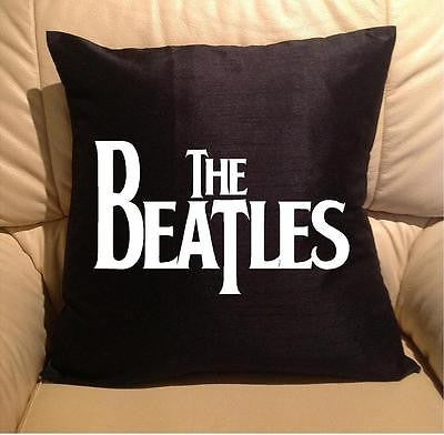 Beatles Pillow cover washable Polyester and Square FILLING NOT INCLUDED - Art & Text