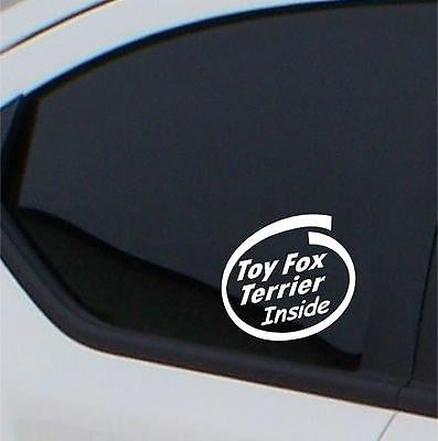 2x Toy Fox Terrier Inside stickers car decal - Art & Text