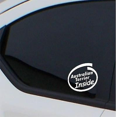 2x  Australian Terrier inside stickers car decal - Art & Text