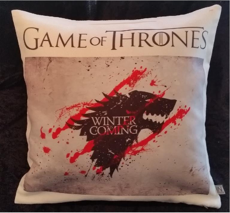 Game of Thrones pillow cover very soft material washable FILLING NOT INCLUDED - Art & Text