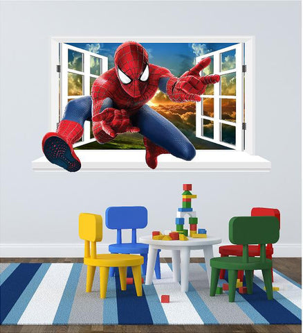 Spiderman 3D Window sticker for the wall (size 58 x 101 cm)... - Art & Text