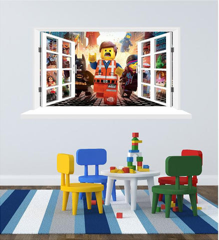 lego movie emmet wall decals (size 58 x 108 cm) - Art & Text