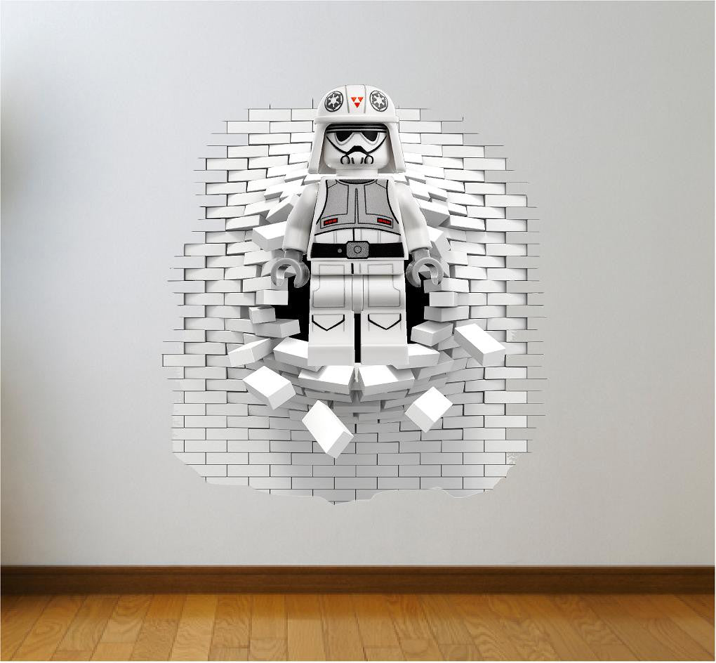 Lego storm trooper wall decal and decals
