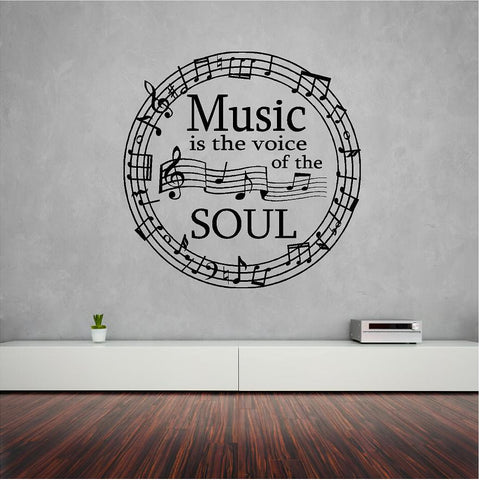 Music wall sticker music decal - Art & Text