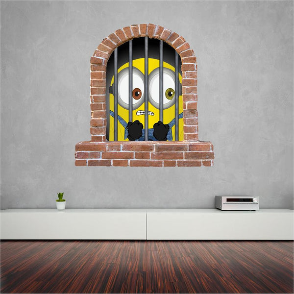 Minions great wall sticker for the kids (decal) - Art & Text