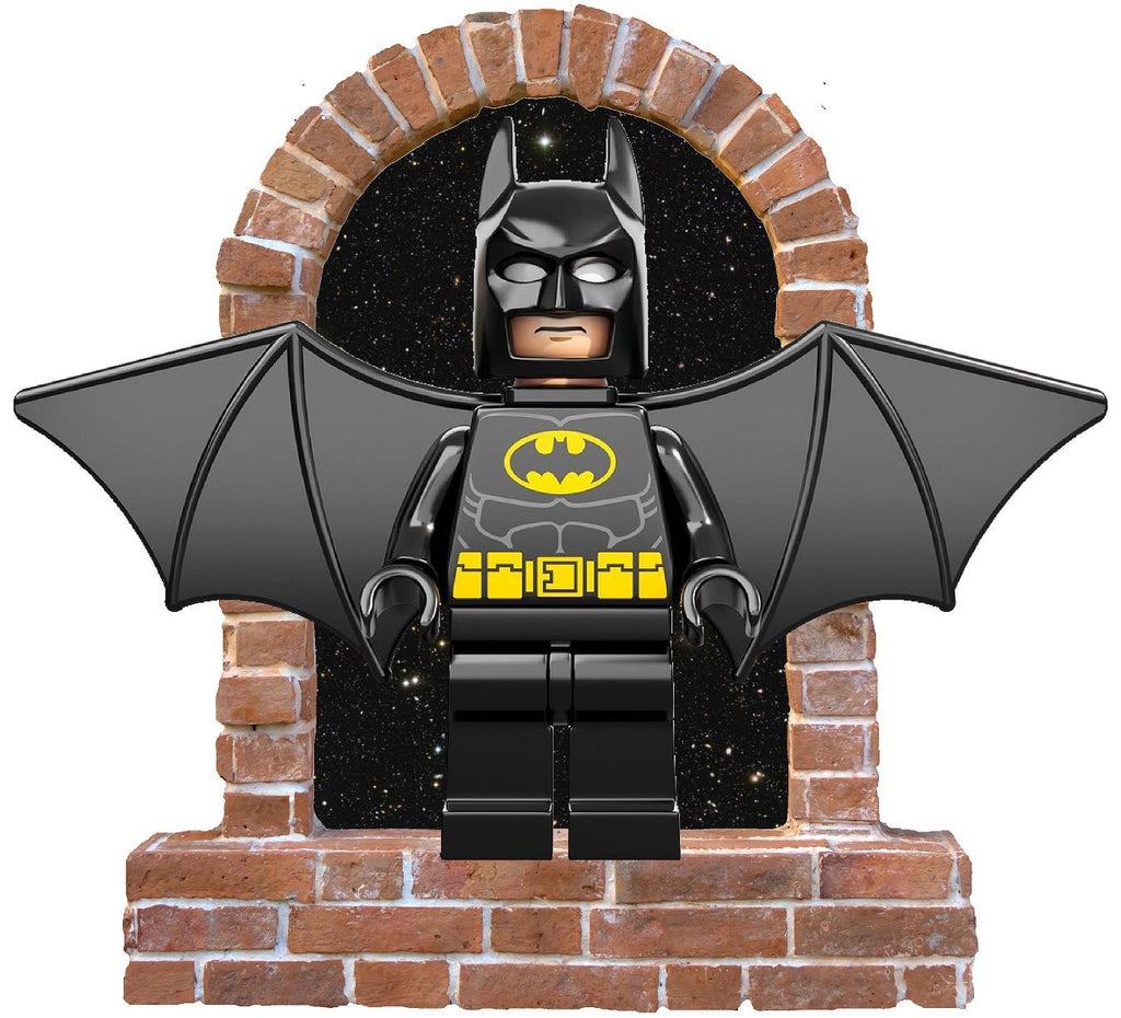 Lego Batman  brick window wall decal and stickers. - Art & Text