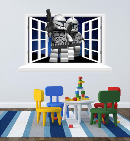 Lego Stormtrooper 3D Window for the wall. - Art & Text