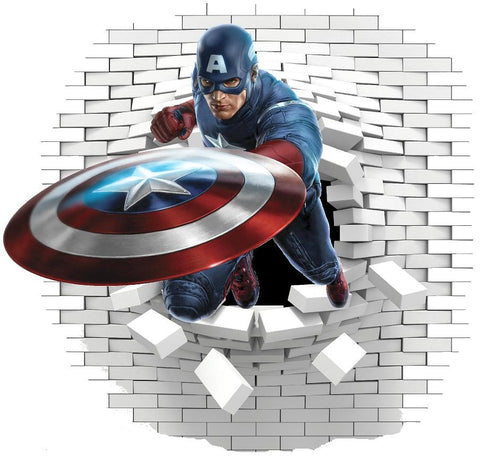 Captain America wall decal and stickers. - Art & Text