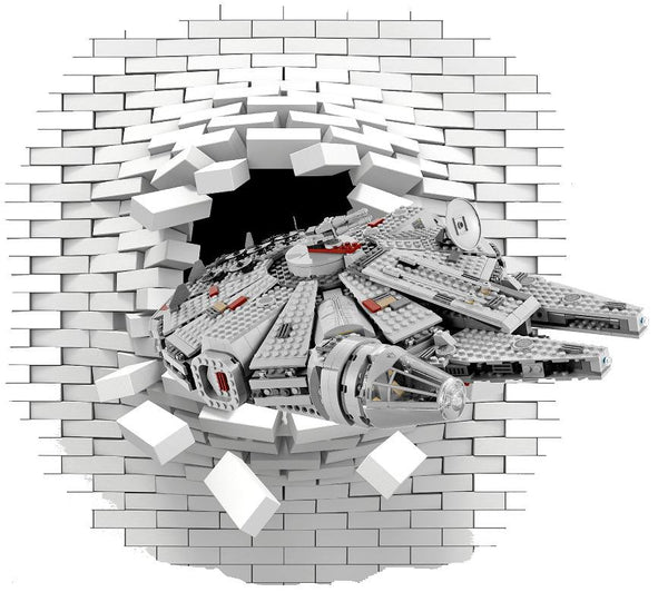 Lego Millennium Falcon star wars decal and stickers. - Art & Text
