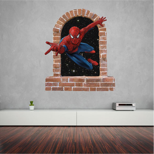 Spiderman wall Stickers and Decals - Art & Text