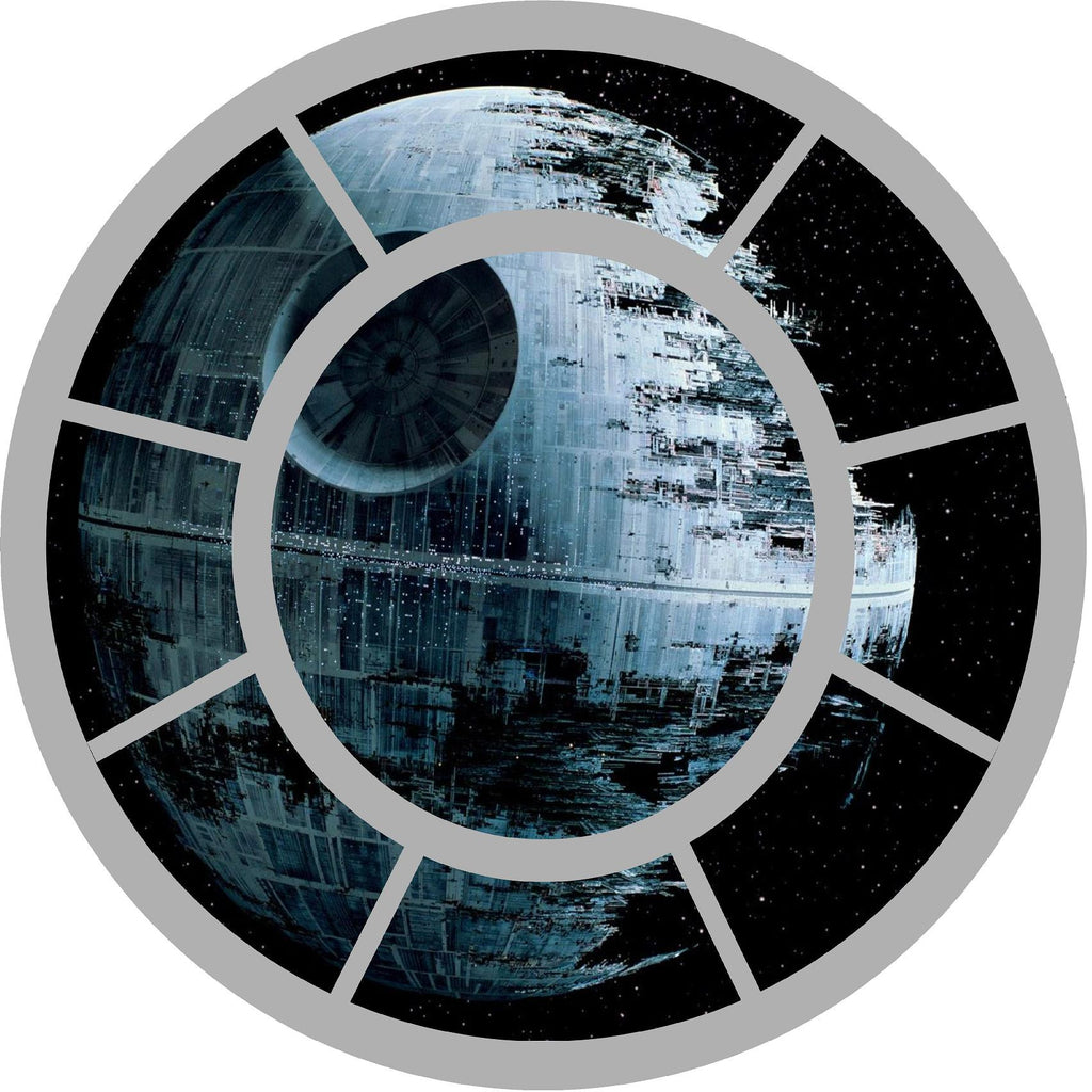 Star wars Tie fighter window with X wing fighter Wall decal (stickers) 60 x 60 cm. - Art & Text