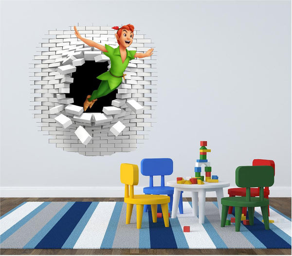 Peter Pan wall decal and decals great in the kids room. - Art & Text