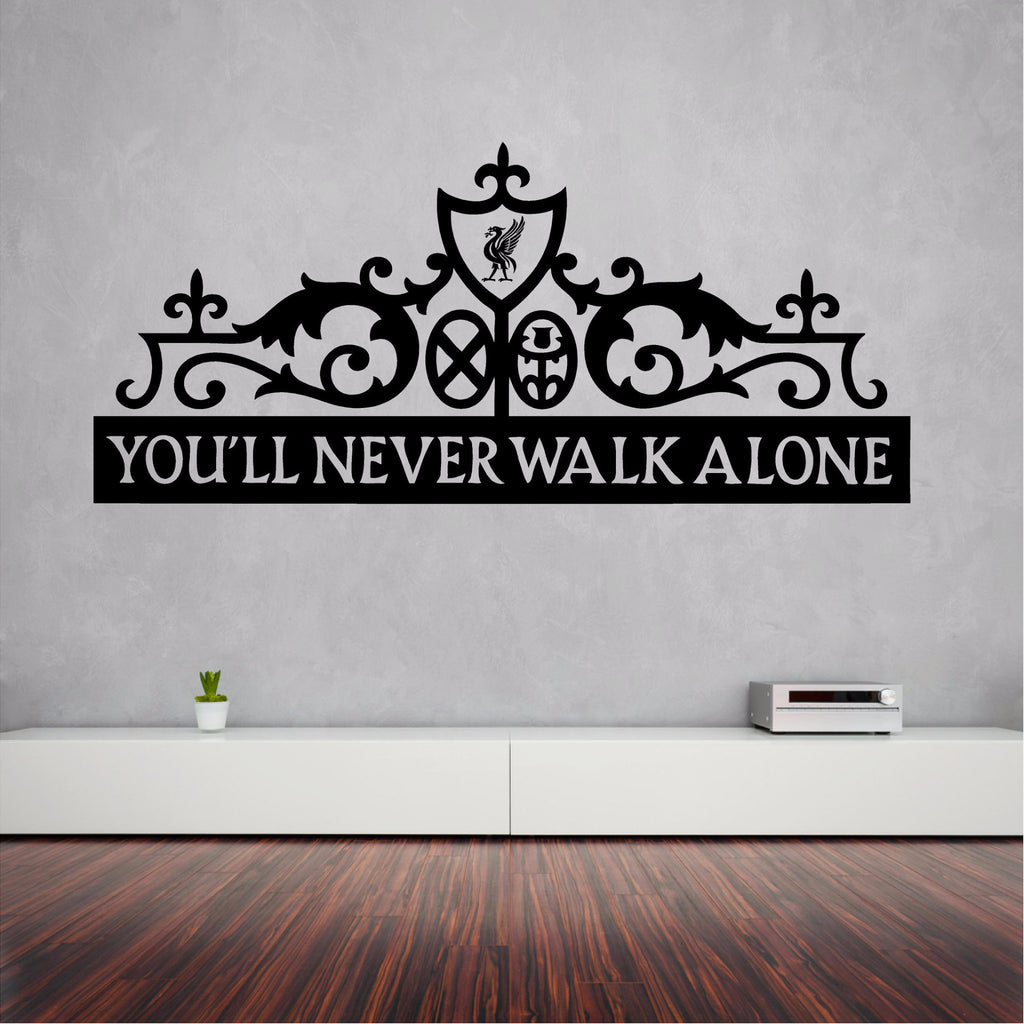 You'll Never Walk Alone wall sticker decal 100 x 44 cm. - Art & Text
