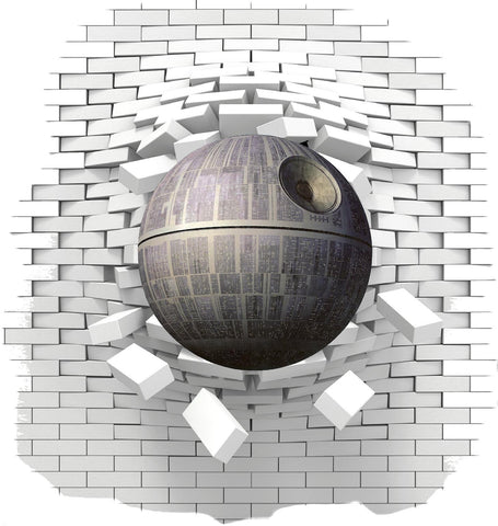 Death  Star Wall sticker and decals for the kids bedroom. - Art & Text