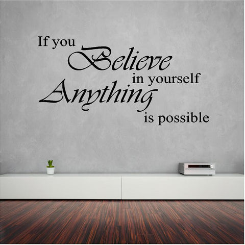 If you believe wall sticker (decal) - Art & Text