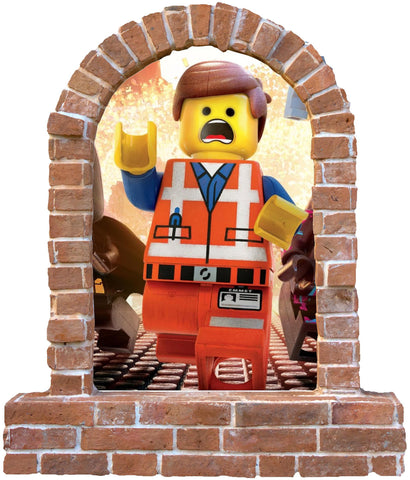 Lego Emmet stickers brick window wall sticker and decals. - Art & Text