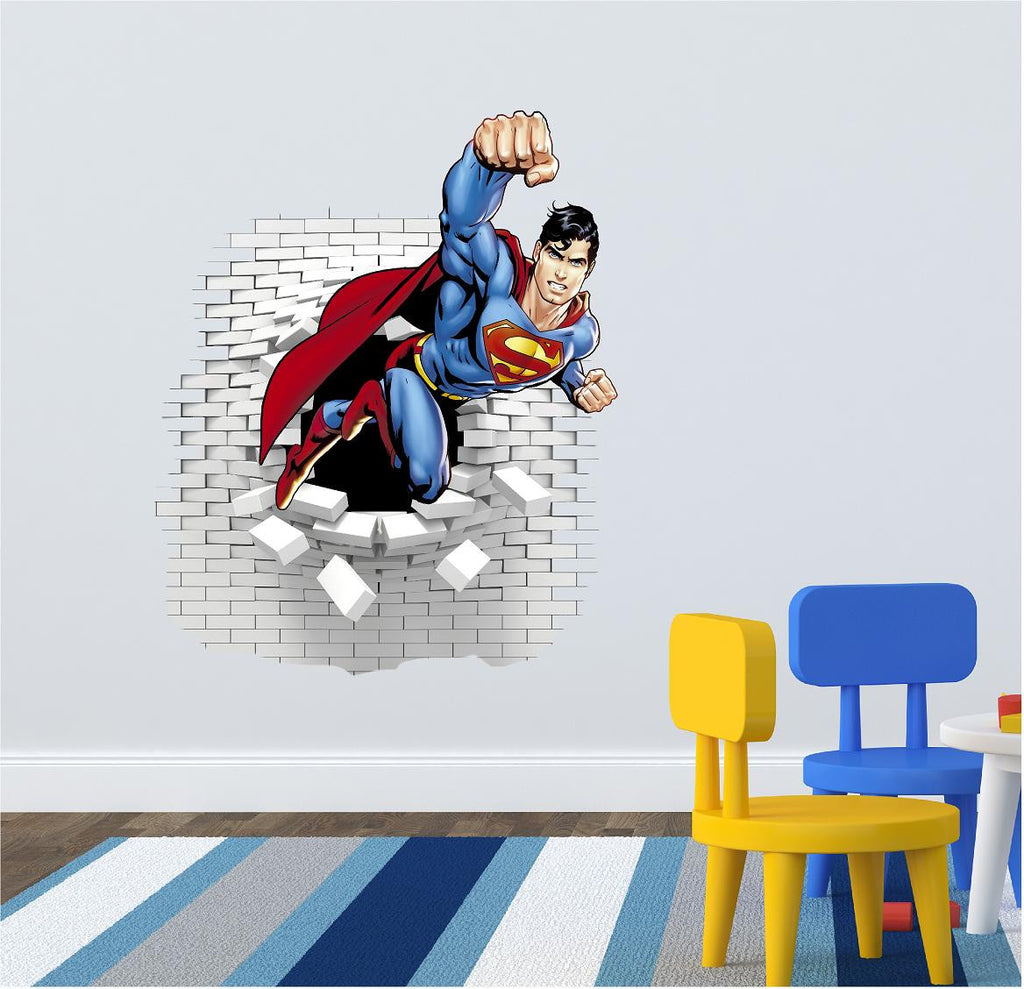 Superman wall decal stickers art og text superman wall decal 73 x 60 cm amipublicfo Choice Image
