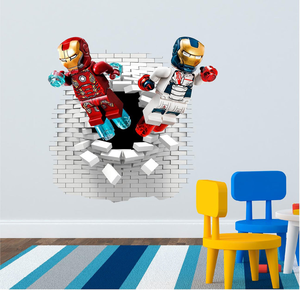 Iron man wall decals 63 x 60 cm. - Art & Text