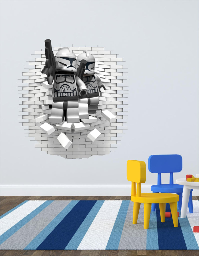 Lego Stormtrooper  wall decal and stickers. - Art & Text