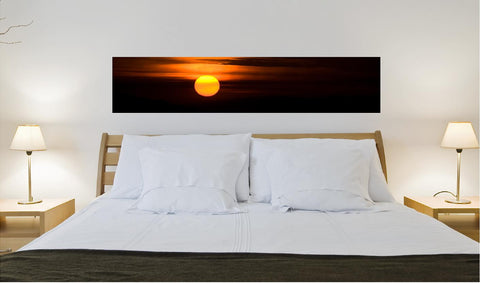 Sun set wall decal 118 x 24 cm. (sticker) - Art & Text