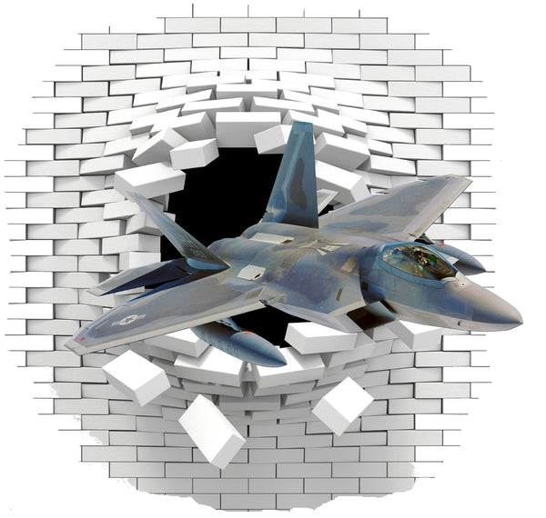 Aircraft  wall decal (sticker) - Art & Text