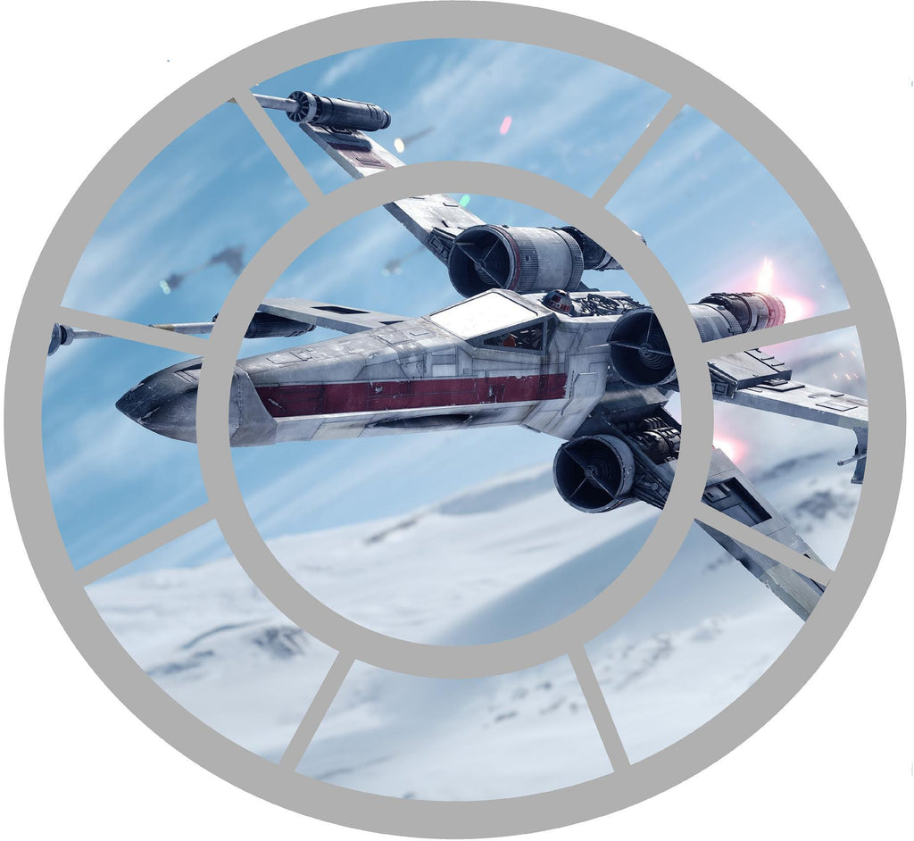 Tie fighter window with x wing decal - Art & Text