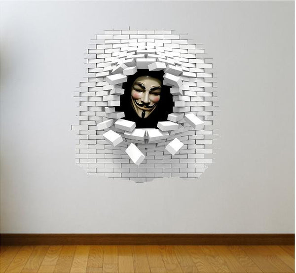 V for Vendetta wall decal and stickers. - Art & Text