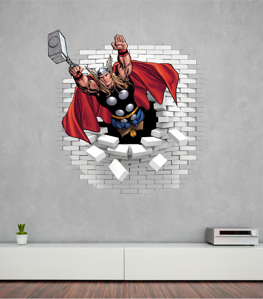 Thor wall decal and stickers looks great on the wall. - Art & Text