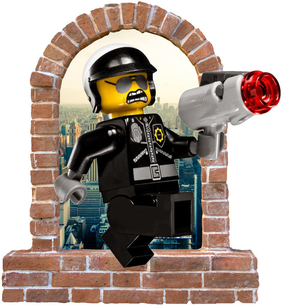 Good Cop Bad Cop brick window wall decal and stickers. - Art & Text