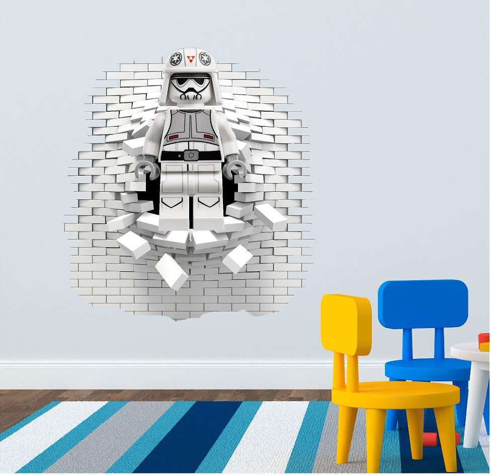 Lego Storm Trooper Wall Decal.