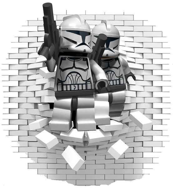 Lego Stormtrooper  wall decal (sticker) - Art & Text