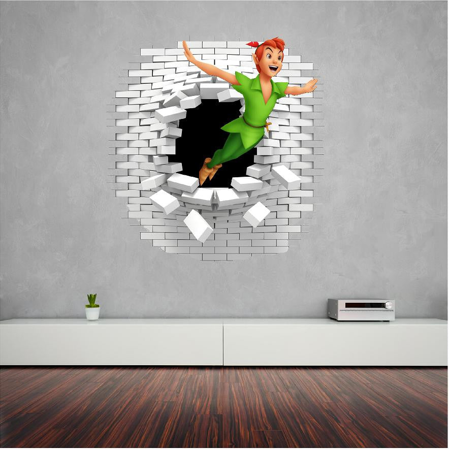 Peter Pan wall decal and decals great in the kids room. – Art og Text