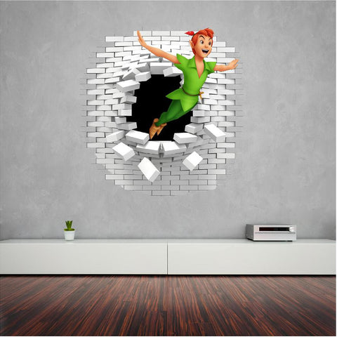 Peter Pan wall decal (sticker) great in the kids room.