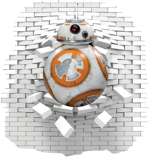 BB8 Star wars wall decal and stickers. - Art & Text