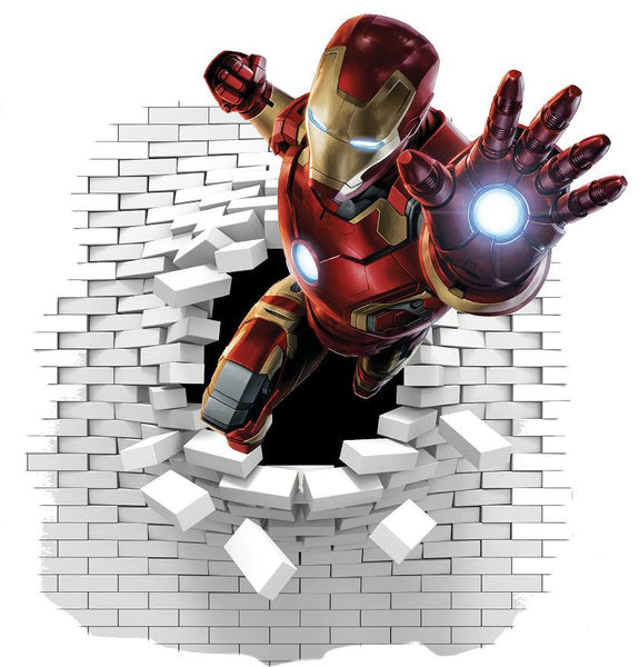 Iron Man wall stickers  (decal) - Art & Text