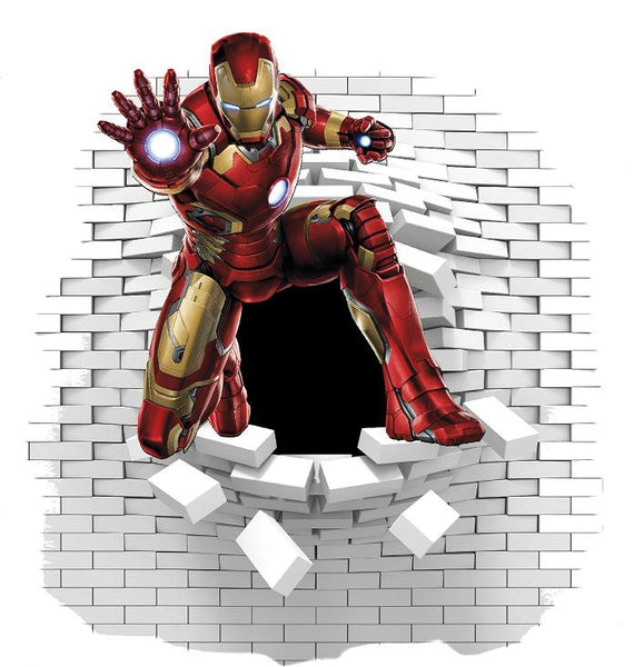 Iron Man wall stickers decal - Art & Text