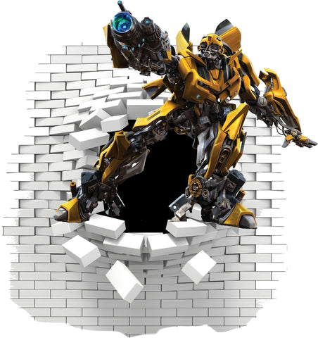 Bumblebee Transformers Wall decal and stickers. - Art & Text