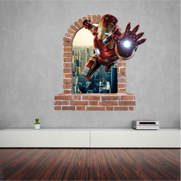 Iron man wall stickers looks great on the wall. - Art & Text
