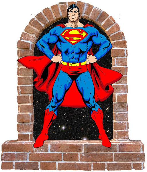 Superman wall decal and stickers. - Art & Text