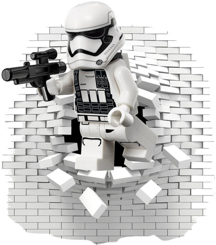 Lego Stormtrooper wall decal. - Art & Text