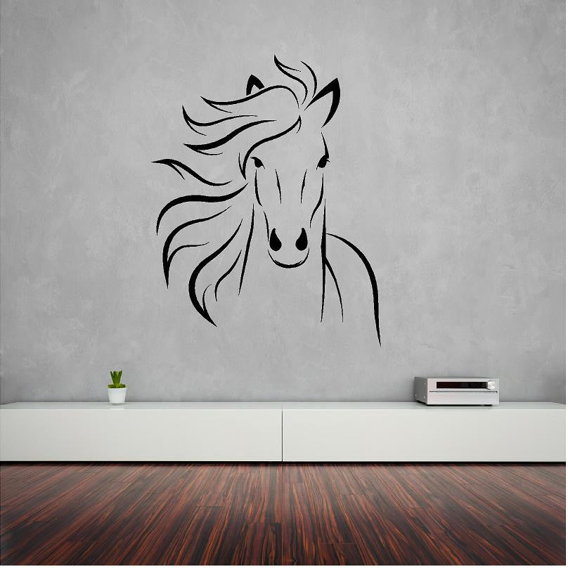 Horse wall decal in BLACK. - Art & Text