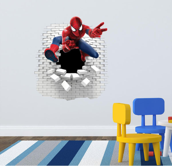 Spiderman  wall decal  (sticker) - Art & Text