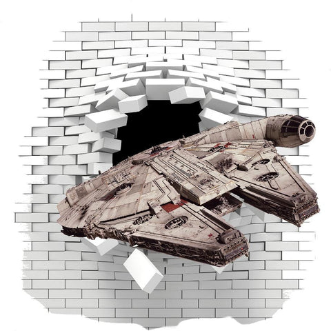 Star Wars Millennium Falcon Wall decal and stickers. - Art & Text
